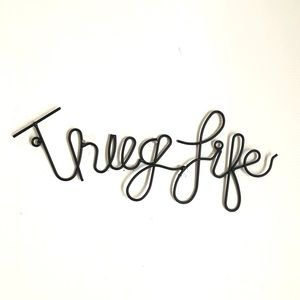"Other - ""Thug Life"" Black Wire Hanging Wall Decor Gangsta"